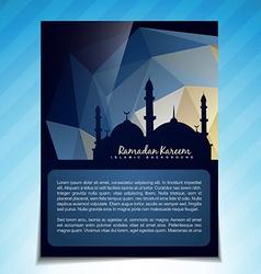 Islamic template vector