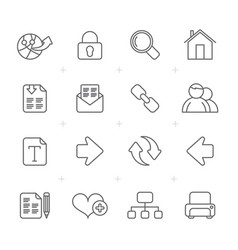 Line internet and web navigation icons vector
