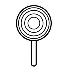 lollipop icon outline line style vector image vector image