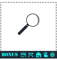 Magnifying glass icon flat vector image