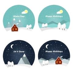 Nature - winter landscape vector image vector image