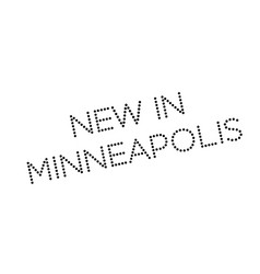 New in minneapolis rubber stamp vector
