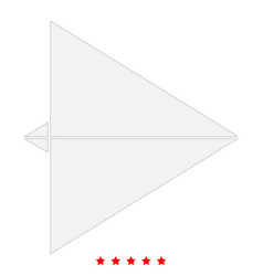 Paper airplane icon flat style vector