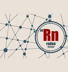radon chemical element vector image