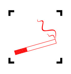 smoke icon great for any use red icon vector image