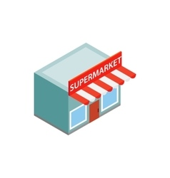 Supermarket building icon isometric 3d style vector