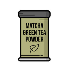 Vintage hand drawn matcha green tea vector