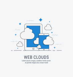 web clouds for web vector image vector image
