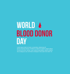 World blood donor day style collection background vector