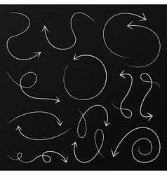 Arrow drawing6 vector image