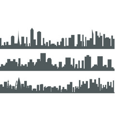 Urban landscape city real estate seamless vector