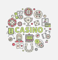 Colorful casino vector