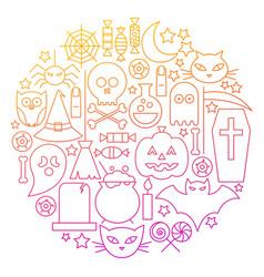 Halloween line icon circle design vector