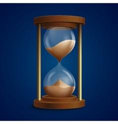 Retro hourglass clock background vector image