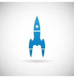 Rocket space ship launch symbol icon design vector