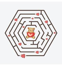 Hexagonal maze vector image