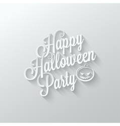 Halloween party cut paper lettering background vector