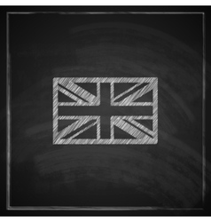British union jack flag with chalkboard texture vector