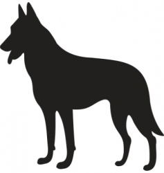 Dog silhouette vector