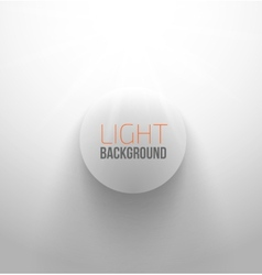 White circle button with light and shadow vector image