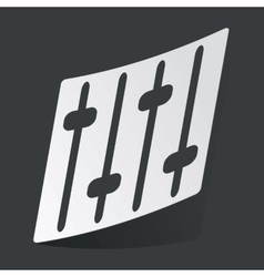 Monochrome faders sticker vector