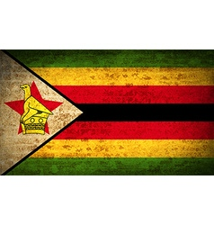 Flags zimbabwe with dirty paper texture vector