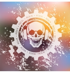 Skull and headphone vector
