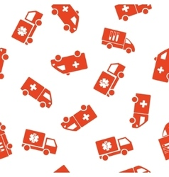 Medical van seamless seamless flat pattern vector
