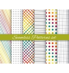 Geometric rainbow and gray seamless pattern set vector