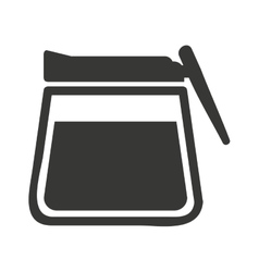 Modern teapot isolated icon design vector