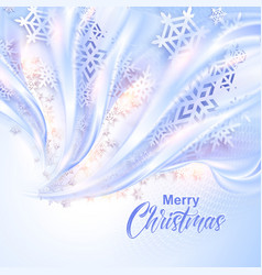 Beautiful abstract snowflake Christmas background vector image vector image