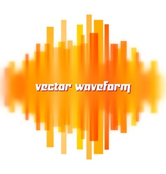 Blurred waveform made of lines vector image vector image