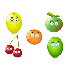 Cartoon Fruit Set 3 vector image
