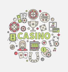 colorful casino vector image vector image