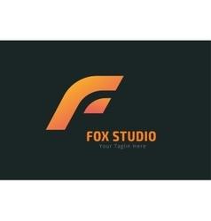 Fox or lion face logo template vector image