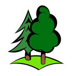 Green forest icon icon cartoon vector