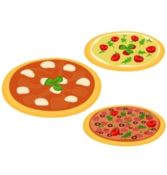 Italian pizzas vector