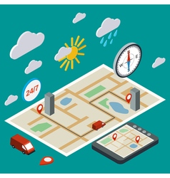 Mobile navigation transport vector image vector image