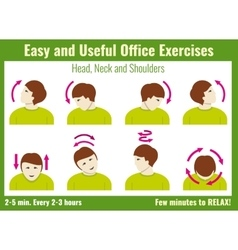 Office syndrome infographic exercises with vector