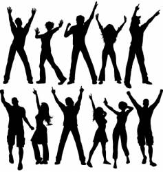 party people silhouettes vector image vector image