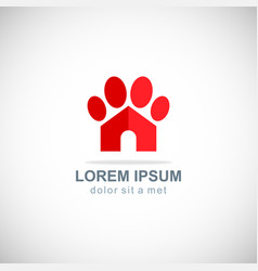 pet house dog icon logo vector image