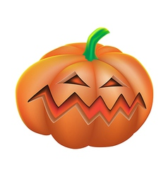 Pumpkin angry on white background vector image