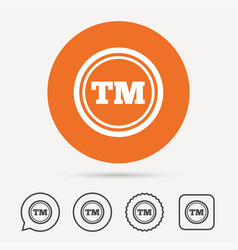 registered tm trademark icon intellectual work vector image