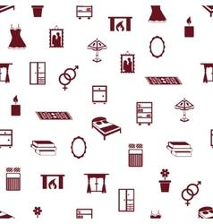 Seamless bedroom pattern vector