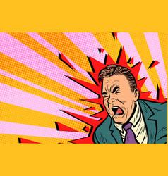 severe headache male vector image