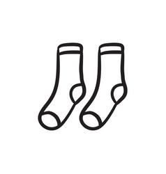 Socks sketch icon vector