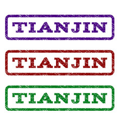 Tianjin watermark stamp vector