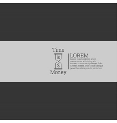 Time is money money concept vector image