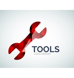 Tools icon logo design made of color pieces vector image