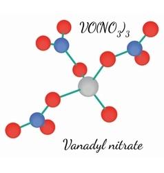 Vanadyl nitrate VON3O9 molecule vector image